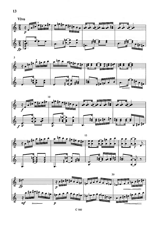 Guitar Quartet (2015) Ernst Mahle 3rd Movement Full Score