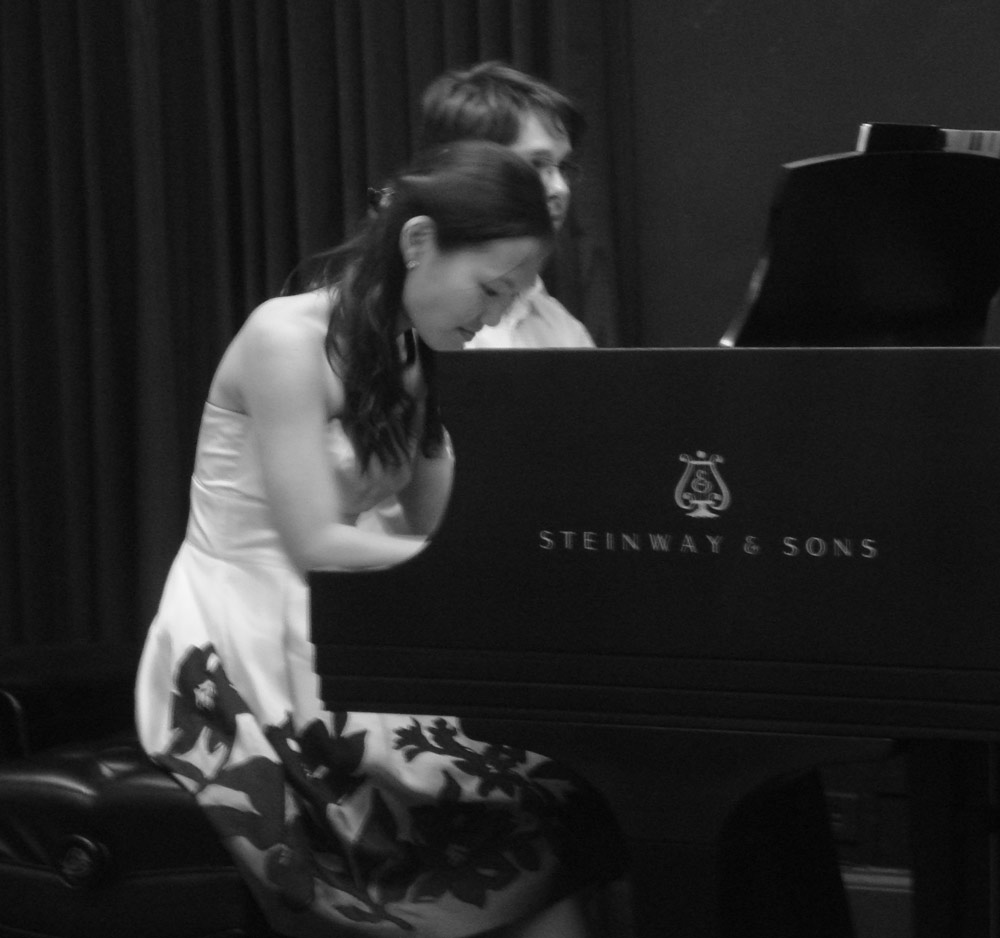 Heeyeon and Victor perform Mahle's music in Steinway Hall, New York, NY