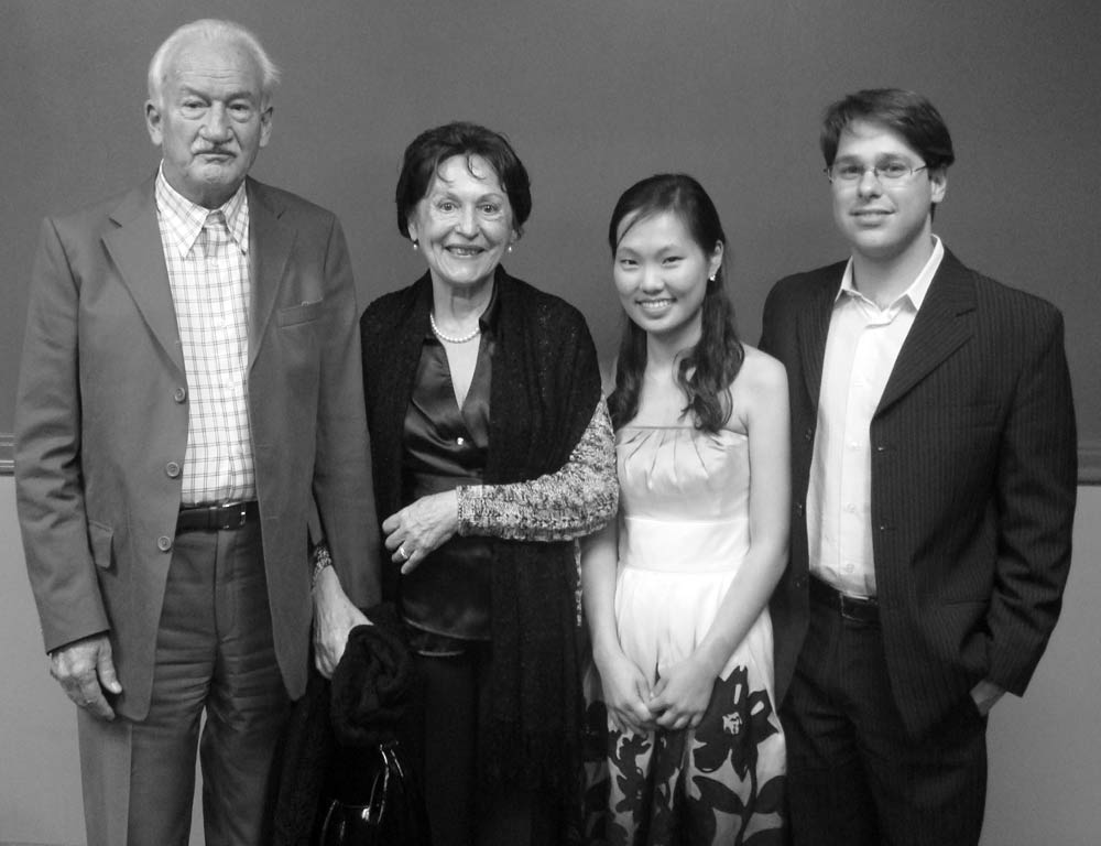 Ernst Mahle, Cidinha Mahle, Heeyeon, and Victor, Steinway Hall, New York, NY