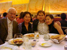 Ernst Mahle, Cidinha Mahle, Vitor, and Heeyeon in a New York restaurant after a Mahle concert